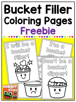 Bucket Filler Coloring Pages Freebie