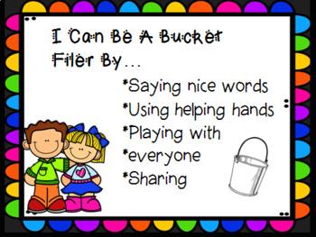 Bucket Filler & Dipper Signs / Bucket Filler Pledge & Bucket Filler Certificate