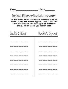 Bucket Filler Follow Up Activitiy