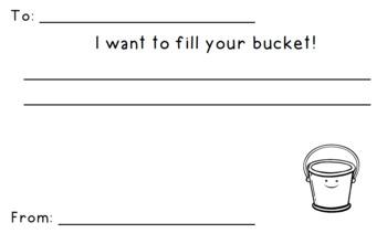 Bucket Filler Forms
