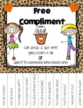 "Bucket Filler ""Free Compliment"" Flyer"