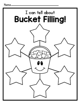 Bucket Filler Graphic Organizers and Writing Templates