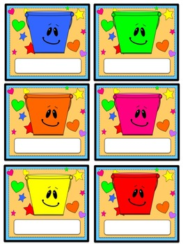 Bucket Filler Label *FREEBIE*