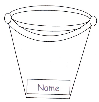 Bucket Filler Library/Pocket Chart Card - fully editable