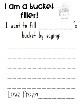 Bucket Filler Notes- Spread Kindness