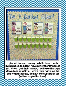 Bucket Filler Posters- Bright Chevron