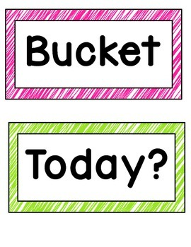 Bucket Filler Posters- Bright Colors