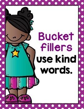 Bucket Filler Posters- Bright Polka Dots