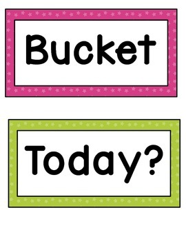 Bucket Filler Posters- Bright Stars
