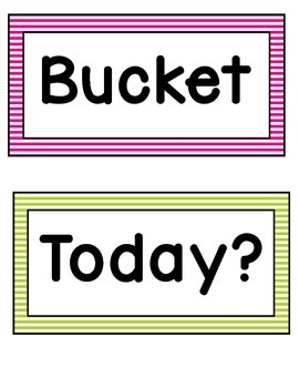 Bucket Filler Posters- Bright Stripes