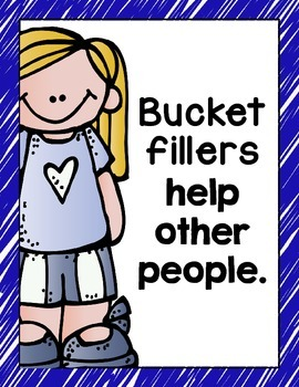 Bucket Filler Posters- Primary Colors {Blue, Red, Yellow, Green}