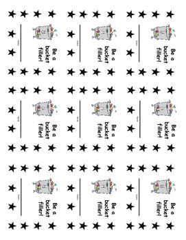 Bucket Filler Reward Punch Card