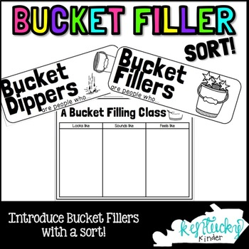 Bucket Filler Sort FREEBIE