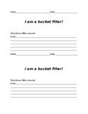 Bucket Filler Worksheet Template