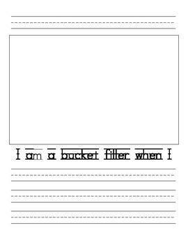 Bucket Filler Writing