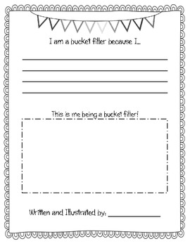 Bucket Filler Writing and Craftivity