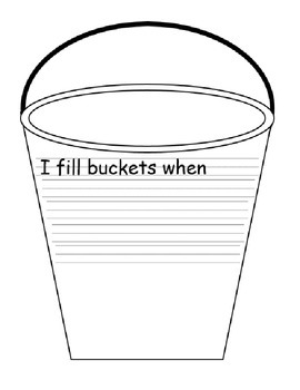 Bucket Filler Writing with Handwriting Lines