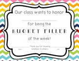 Bucket Filler of the Week Certificate