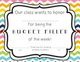 Bucket Filler of the Week Certificate