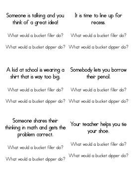 Bucket Filler vs. Dipper Conversation Cards