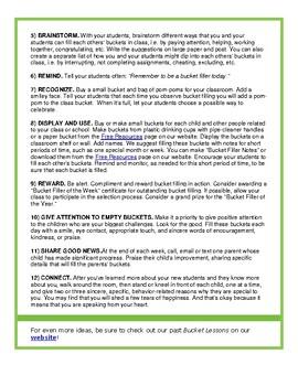 Bucket Filler - 12 Easy Ways to Create a Bucketfilling Classroom
