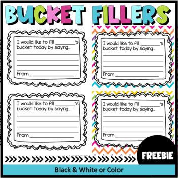 Free Printable Bucket Fillers