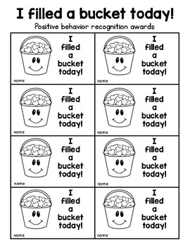Bucket Fillers Activity Set