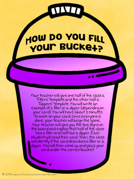 A Lesson on Bucket Fillers & Bucket Dippers, Grades 2-3