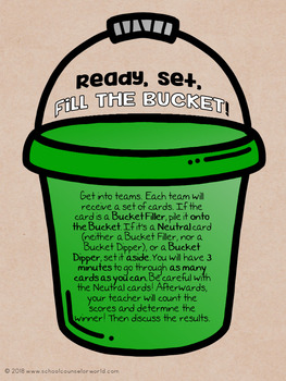 Bucket Fillers/Bucket Dippers, Guidance Lesson for Grades 4-6