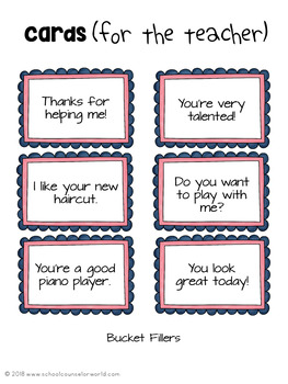Bucket Fillers/Bucket Dippers, Guidance Lesson for Grades K-1
