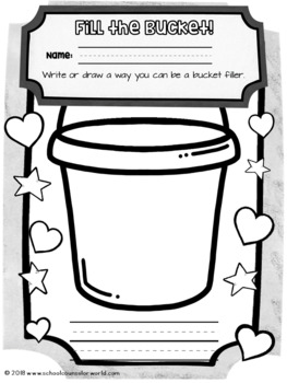 A Lesson on Bucket Fillers & Bucket Dippers, Grades K-1