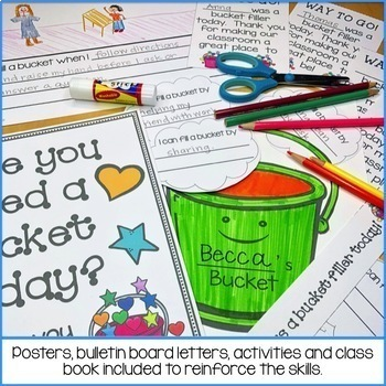 Bucket Fillers Activities, Printables, Certificates & Bulletin Board