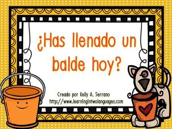 Bucket Fillers in Spanish / ¿Has llenado un balde hoy?