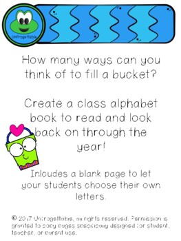 Bucket Filling ABC Class Book