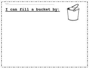 Bucket Filling Activity Sheets for Varied Levels