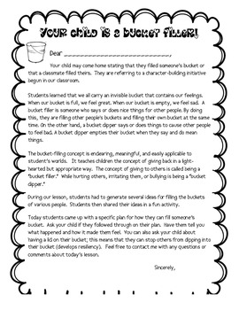 Bucket Filling Activity and Lesson Plan