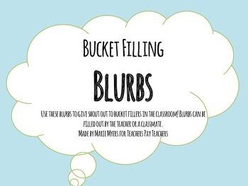Bucket Filling Blurbs