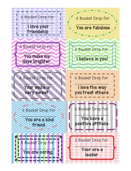 Printable Bucket Filling Cards 2