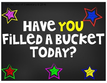 Bucket Filling Classroom in English and Spanish