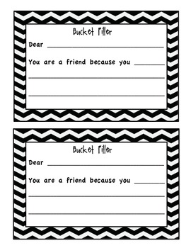 Bucket Filling Compliment Starters- Chevron Edition