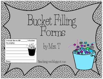 Bucket Filling Forms in Black and White