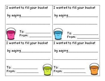 Bucket Filling Fun: Activity Packet