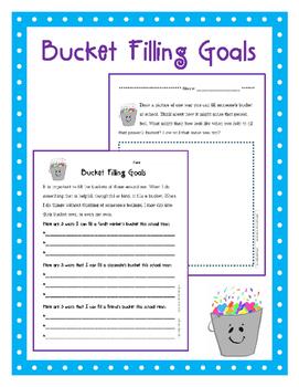 Bucket Filling Goal Sheet