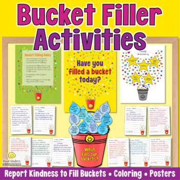 Bucket Filling Lesson Plans & Printables to Teach Kindness - US Letter