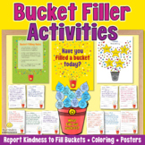 BUCKET FILLER Kindness Bulletin Board, Coloring and Writin