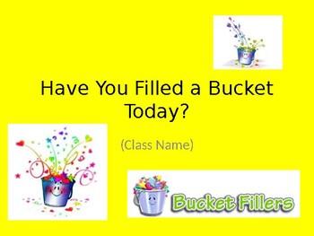 Bucket Filling PowerPoint Template Freebie