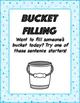 Bucket Filling Sentence Starters