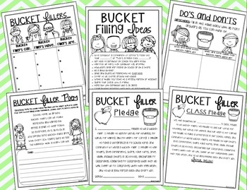 Bucket Filling: Slips, Forms, Activities, Posters, Poems and more!