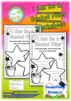 Bucket Filling Worksheets and Certificates