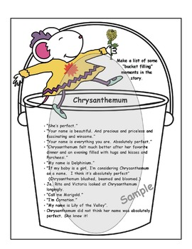 "Chrysanthemum Activities: ""Bucket Filling"" With Chrysanthemum"